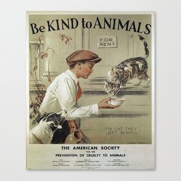 Be Kind To Animals 1 Canvas Print