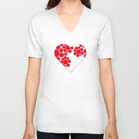 dot V-neck T-shirts featuring Dot by ♥ Charlie
