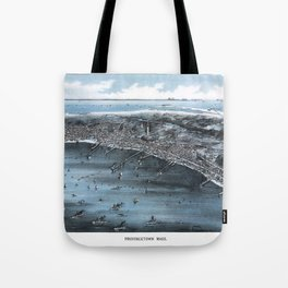 PROVINCETOWN MASSACHUSETTS city old map Father Day art print poster Tote Bag