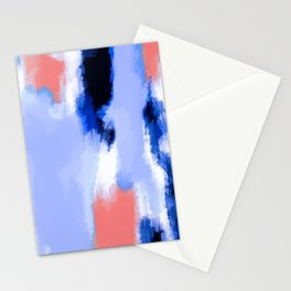 blue pink purple and white painting texture abstract background Stationery Cards