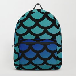 Blue Scale Pattern Backpack
