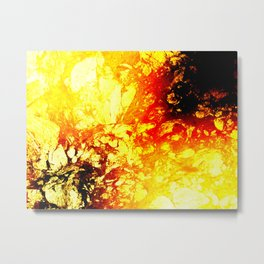 Liquid Volcano Burn Metal Print