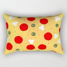Cool fun pizza pepperoni mushroom Rectangular Pillow