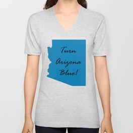 Turn Arizona Blue! Vote Democrat Liberal Pride! Midterms 2018 Unisex V-Neck
