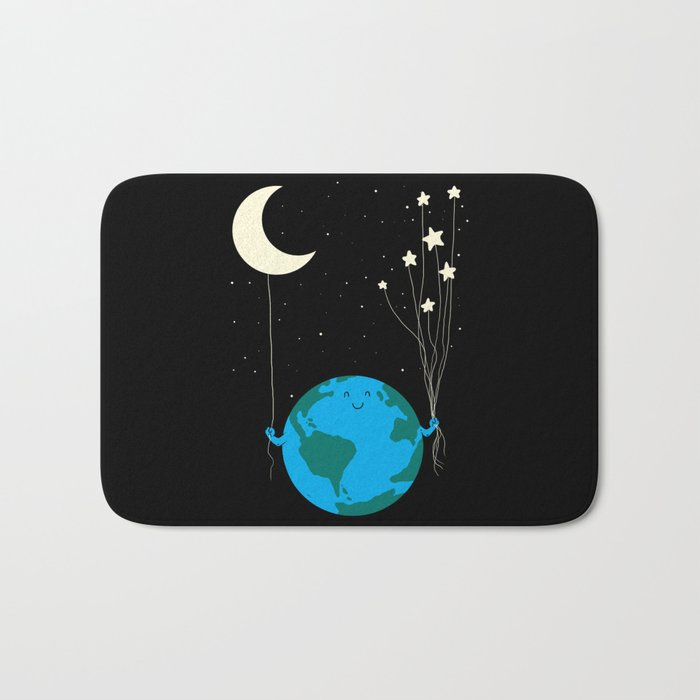 Under the moon and stars Bath Mat