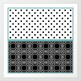 A combined decorative pattern . Art Print