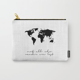 Printable Art,Not All Who Wander Are Lost,Map Of The,World,Wall Art,Home Decor,Travel Carry-All Pouch
