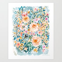 SMELLS LIKE GLORIOUS IMPERFECTION Floral Art Print
