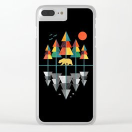 Geometrical Nature Clear iPhone Case