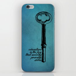 Education Key. iPhone Skin