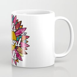 Girls Support Girls Retro Flower Coffee Mug