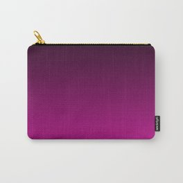 Black and Magenta Gradient Carry-All Pouch