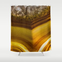 Amber Agate Edges Shower Curtain
