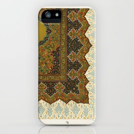 Indo-Persian pattern from L'ornement Polychrome (1888) by Albert Racinet (1825–1893).1 iPhone Case
