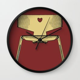 Classic Eames Chair poster / Print Wall Clock