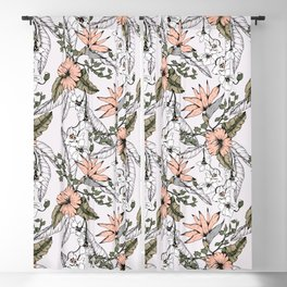 Tropical pattern pastel Blackout Curtain