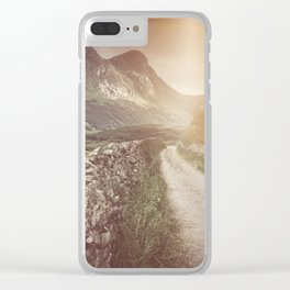 Hazy Landscape Clear iPhone Case
