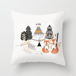 Be Brave, Little One Throw Pillow