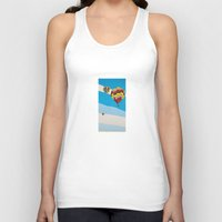 hot air balloons Tank Tops featuring Three Hot Air Balloons by Shelley Chandelier