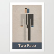 Retro Two Face Art Print