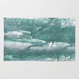 Marine color blurred wash drawing design Rug