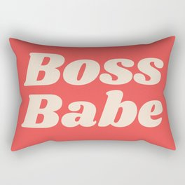 Retro Boss Babe - Coral Rectangular Pillow