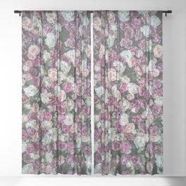 Flower carpet Sheer Curtain