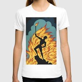 "Art Deco Design ""Prometheus with Fire"" T-shirt"