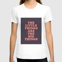 The Little Things Are The Big Things T-shirt