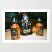 whisky Art Prints featuring whisky by songzhen