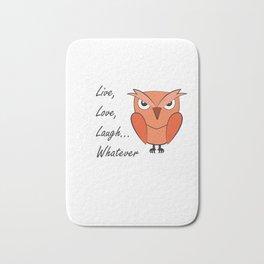 Cool sarcastic owl Bath Mat