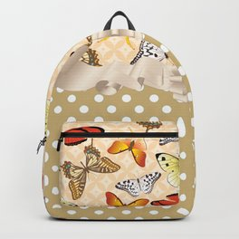 Assorted Butterflies and Polka Dots Backpack