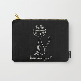 The Friendly Black Cat Carry-All Pouch