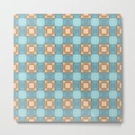 Blue-beige plaid Metal Print