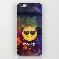 swag iPhone & iPod Skins featuring #Swag by pbstudios