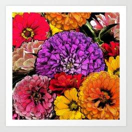 Power Flowers Art Print