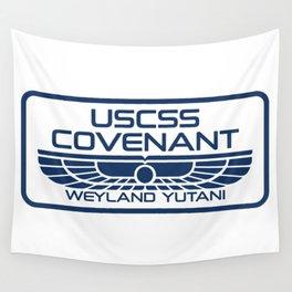 USCSS Covenant - Weyland Yutani - with border Wall Tapestry