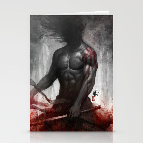 Samurai Vengeance Stationery Cards