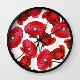the poppy Wall Clock