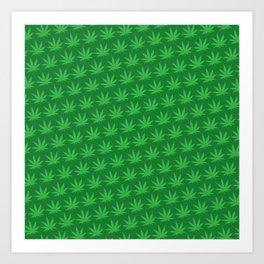 Marijuana Pattern Art Print