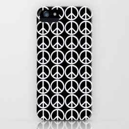 Peace Be With You BW iPhone Case