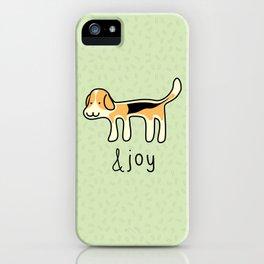 Cute Beagle Dog &joy Doodle iPhone Case
