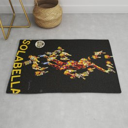 Vintage 1920's Leonetto Cappiello  IsolaBella Lithograph Advertising Wall Art Style 4 yellow text Rug