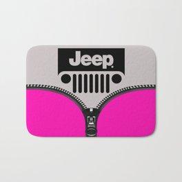 Jeep Pink Zipper Bath Mat