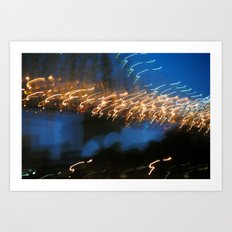 In My Dream, I Saw A Lighted Bridge Art Print