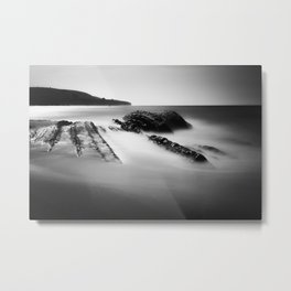 Uncovered Bowling Ball Beach Mendocino coast Metal Print