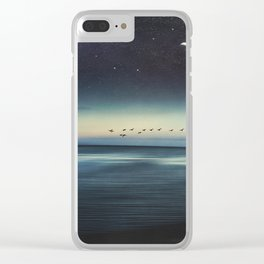 Currents - Abstract seascape Clear iPhone Case