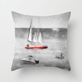 Bridgetown Barbados Art Throw Pillow