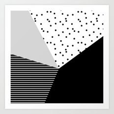 Geometry Blocks 10 Art Print