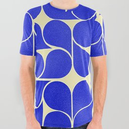 Blue mid-century shapes no8 All Over Graphic Tee